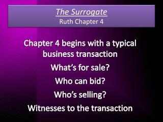 The Surrogate Ruth Chapter 4