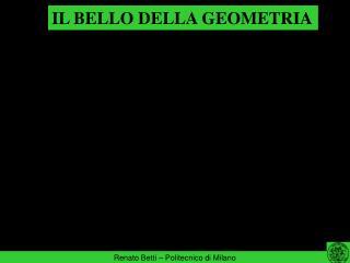 IL BELLO DELLA GEOMETRIA