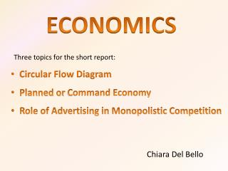 Three topics for the short report: