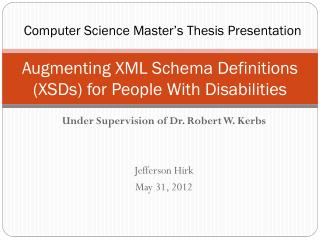 Augmenting XML Schema Definitions (XSDs) for People With Disabilities