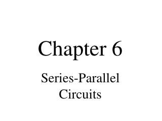 Series-Parallel Circuits