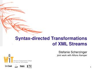 Syntax-directed Transformations of XML Streams