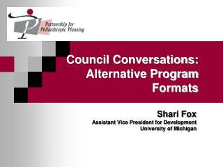 Council Conversations: Alternative Program Formats