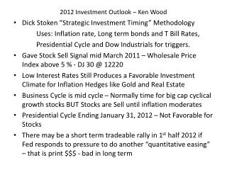 2012 Investment Outlook � Ken Wood