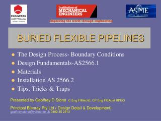 The Design Process- Boundary Conditions Design Fundamentals-AS2566.1 Materials Installation AS 2566.2 Tips, Tricks  Trap