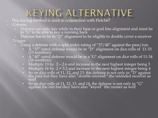 keying  a lternative
