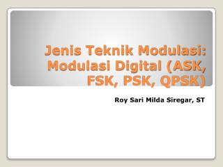 Jenis Teknik Modulasi: Modulasi Digital (ASK, FSK, PSK, QPSK)