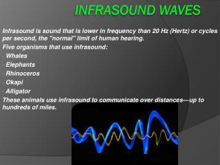 Infrasound Waves