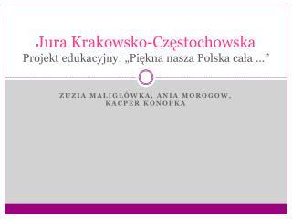 """Jura  Krakowsko-Częstochowska Projekt edukacyjny:  """"Piękna  nasza Polska cała …"""""""