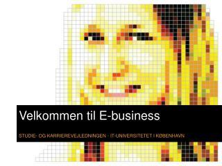 Velkommen til E-business