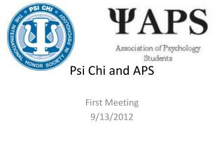 Psi Chi and APS