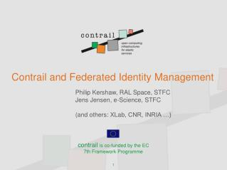 Contrail and Federated Identity Management