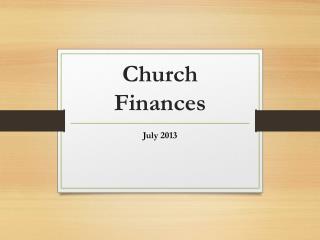 Church Finances