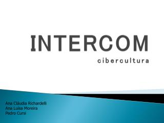 INTERCOM cibercultura