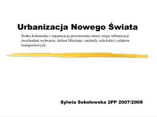Urbanizacja Nowego Świata