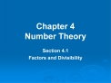 Chapter 4 Number Theory