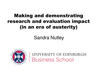 Making and demonstrating research and evaluation impact (in an era of austerity)