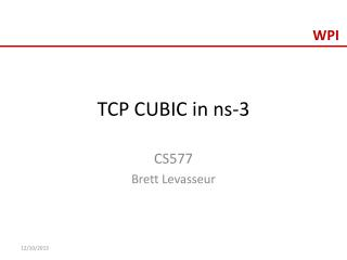 TCP CUBIC in ns-3