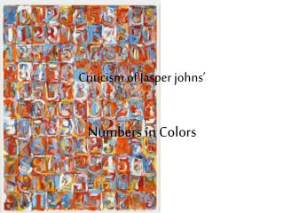 Criticism of Jasper johns'
