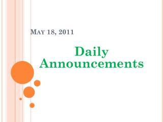 May  18,  2011