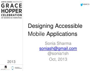 Designing Accessible Mobile  Applications
