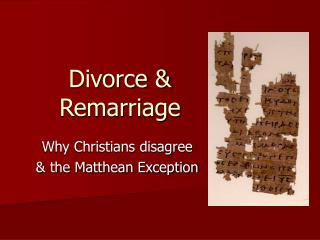 Divorce   Remarriage