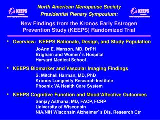 North American Menopause Society Presidential Plenary Symposium: