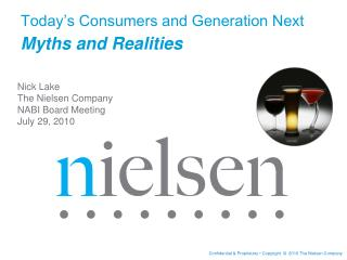 Today�s Consumers and Generation Next  Myths and Realities