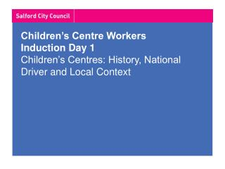 Where have children's centres come from