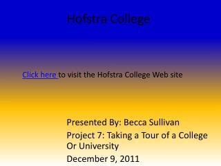 Hofstra College