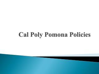 Cal Poly Pomona Policies