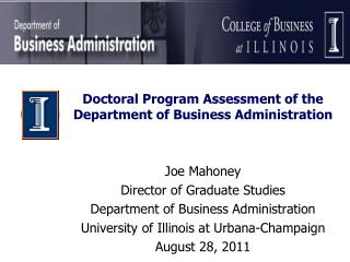 Doctoral Program Assessment