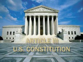 Article III U.S. Constitution