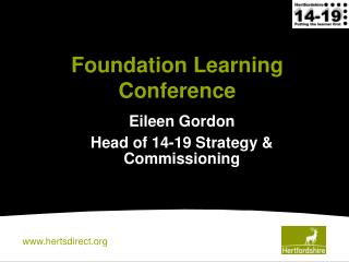 Foundation Learning Conference