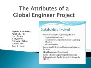 The Attributes of a  Global Engineer Project