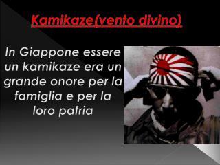 Kamikaze(vento divino)