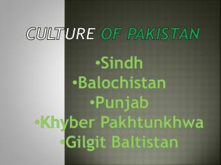 Culture of Pakistan