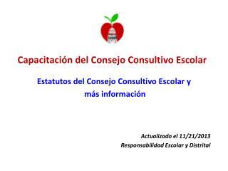 Capacitación del Consejo Consultivo Escolar