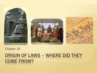 Origin of Laws – Where did they come from?