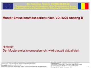 Muster-Emissionsmessbericht nach VDI 4220 Anhang B