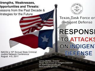 Texas Task Force on  Indigent Defense