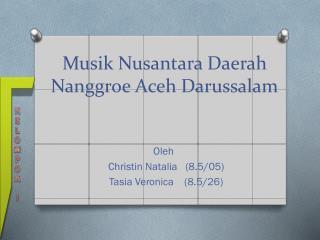 Musik Nusantara Daerah Nanggroe Aceh Darussalam