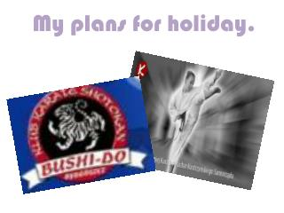 My  plans  for  holiday .