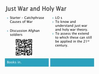 Just War and Holy War