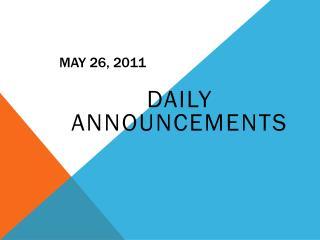 May  26,  2011