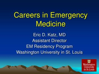 Careers in Emergency Medicine