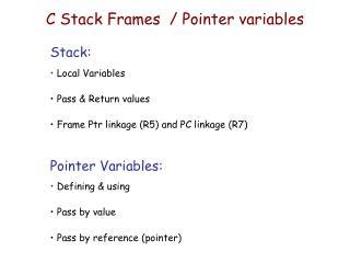 C Stack Frames