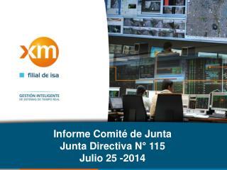 Informe Comité de Junta Junta  Directiva N° 115 Julio 25 -2014