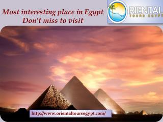 Most interesting place in Egypt Don't miss to visit