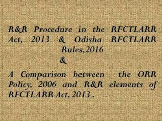 Orissa RR Policy-2006